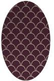 rug #271653 | oval pink retro rug