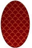 rug #271685   oval orange traditional rug