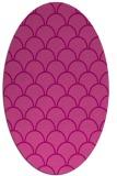 rug #271705 | oval pink retro rug