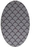 rug #271733 | oval purple traditional rug