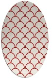 rug #271737 | oval red retro rug