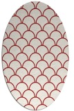 rug #271745 | oval red retro rug