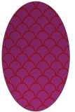 rug #271749 | oval red retro rug