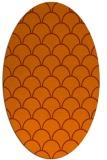 rug #271753 | oval red-orange retro rug