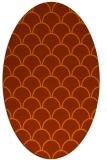 rug #271754   oval retro rug