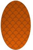 rug #271761 | oval red-orange traditional rug