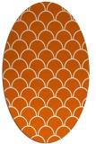 rug #271765   oval red-orange traditional rug
