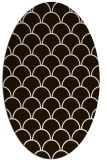 rug #271793 | oval brown retro rug
