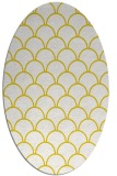rug #271797 | oval yellow retro rug