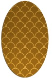 rug #271801   oval light-orange retro rug