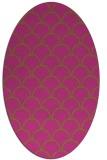 rug #271825 | oval pink retro rug