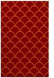 rug #272037 |  orange retro rug