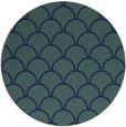 rug #272233 | round blue retro rug