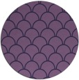 rug #272297 | round purple retro rug