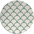 rug #272333 | round blue-green traditional rug