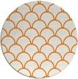 rug #272393 | round orange retro rug
