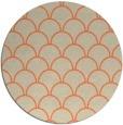 rug #272397 | round orange traditional rug