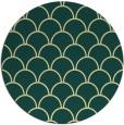 rug #272405 | round yellow retro rug