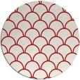 rug #272441 | round red retro rug