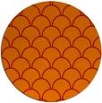 rug #272445 | round orange retro rug
