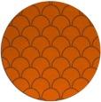 rug #272465 | round red-orange traditional rug