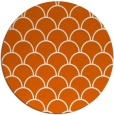 rug #272469 | round red-orange retro rug