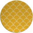 rug #272489 | round yellow traditional rug