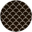 rug #272497 | round brown retro rug
