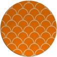 rug #272517 | round orange retro rug