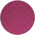 rug #272529 | round pink retro rug