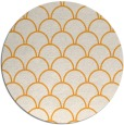 rug #272549 | round light-orange traditional rug
