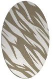 rug #273257   oval white abstract rug