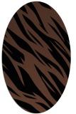 rug #273273 | oval brown rug