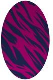 rug #273285 | oval blue abstract rug