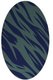 rug #273289 | oval blue abstract rug