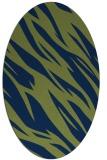 rug #273293 | oval green abstract rug