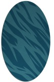 rug #273305   oval blue-green abstract rug