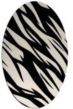 rug #273333 | oval blue-green rug