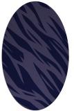 rug #273341 | oval blue-violet rug