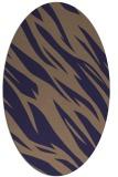 rug #273365 | oval beige abstract rug