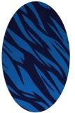 rug #273425 | oval blue abstract rug