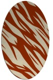 rug #273456 | oval abstract rug