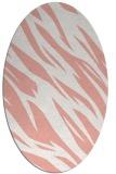 rug #273477   oval pink abstract rug