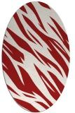 rug #273505 | oval red rug