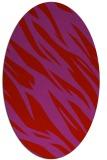 rug #273509   oval pink abstract rug