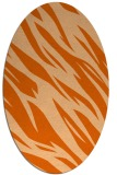 rug #273517 | oval red-orange abstract rug