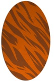 rug #273521 | oval red-orange abstract rug