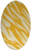 rug #273545   oval yellow abstract rug
