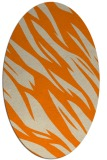 rug #273573 | oval beige abstract rug