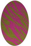 rug #273585   oval pink abstract rug